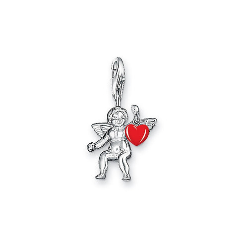 Thomas Sabo Silver Cupid with Red Heart Charm - 0414-007-10