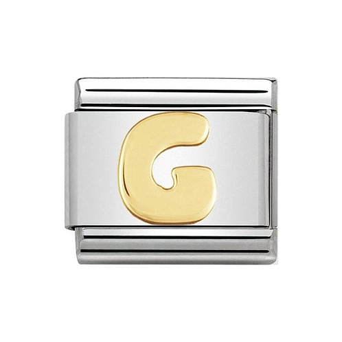 Nomination Gold Initial G Charm Link -030101/07