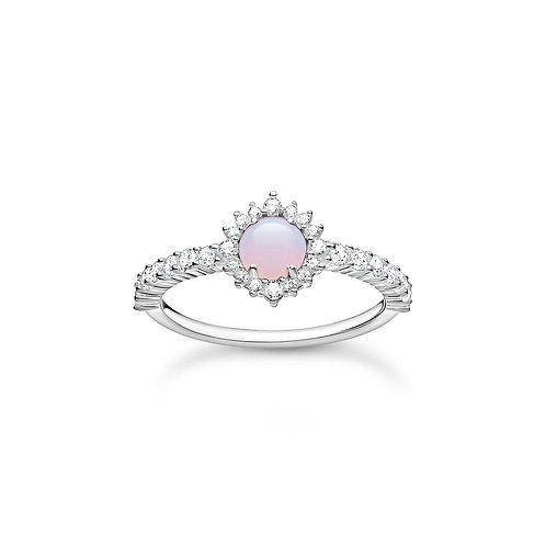 Thomas Sabo Imitation Pink Opal Silver ring - TR2344-166-7