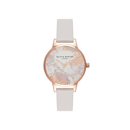 Olivia Burton Abstract Florals and Blush Rose Gold Watch - OB16VM12