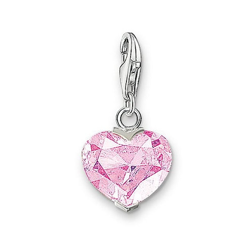 Thomas Sabo Silver Pink CZ Heart Charm - 0013-051-9