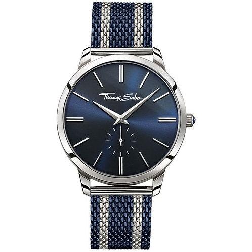 Thomas Sabo Men's Rebel Spirit Blue Mesh Strap Watch - WA0268