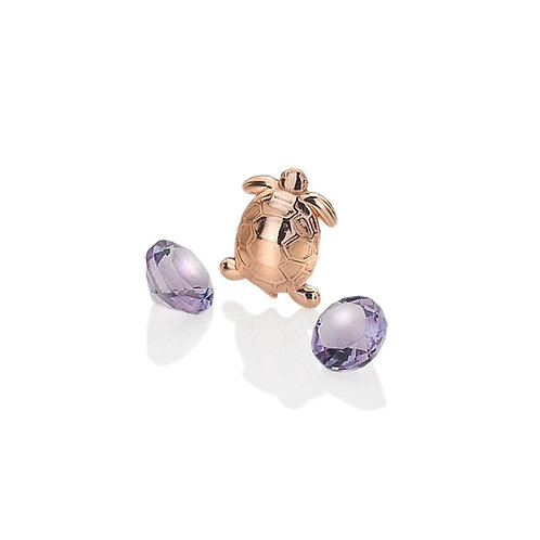 Anais by Hot Diamonds Rose Gold Plated Turtle Charm - AC012