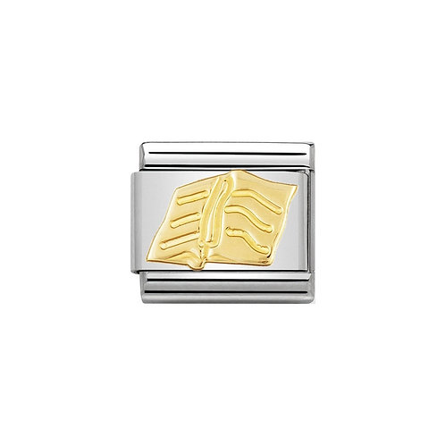 Nomination Gold Reading Book Charm Link - 030109/28