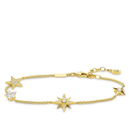 Thomas Sabo Sterling Silver Royalty Star Bracelet - A1916-414-14