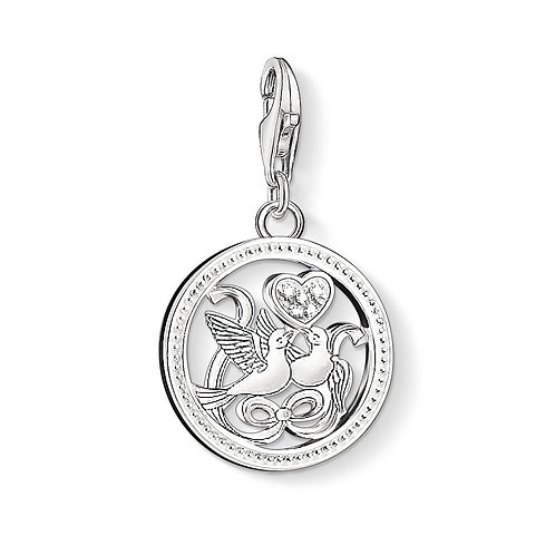 Thomas Sabo Silver Love Birds Charm - 1304-051-14