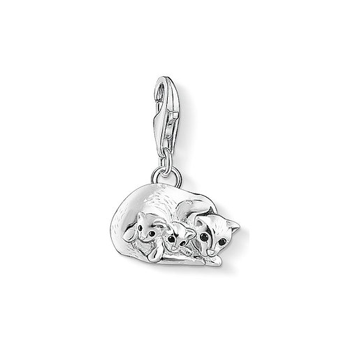 Thomas Sabo Silver Family of Cats Charm - 1335-041-11