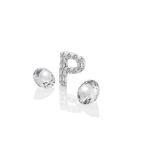 Anais by Hot Diamonds Sterling Silver Letter P Charm - AC084