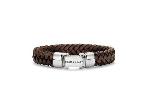 Thomas Sabo Silver Dark Brown Woven Bracelet - LB48-008-2-XL