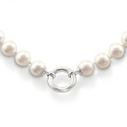 Thomas Sabo Sterling Silver Imitation Freshwater Pearl Necklace - KE565-028-14-M