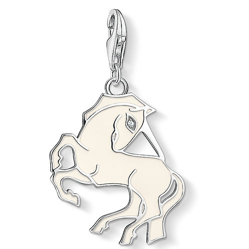 Thomas Sabo Silver White Enamel Unicorn Charm - 1512-041-14