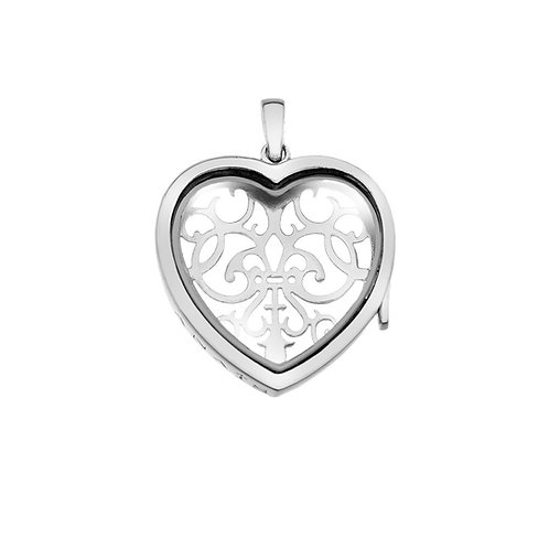 Anais by Hot Diamonds Sterling Silver Filigree Love Heart Locket - AL012