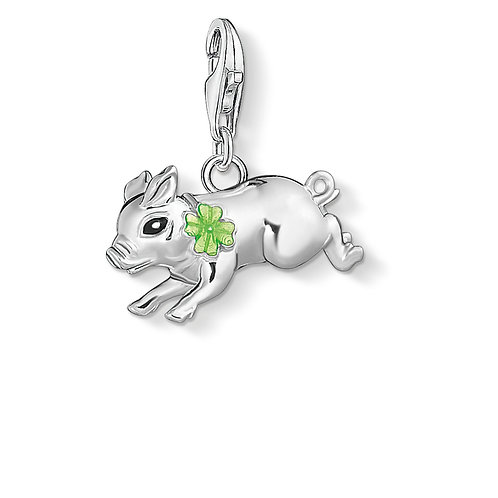 Thomas Sabo Silver Lucky Flying Pig Charm - 1561-007-21