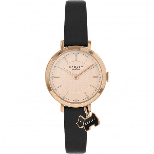 RADLEY Ladies Selby Street Black Leather Strap Watch - RY2928