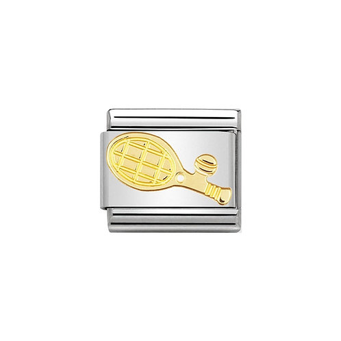 Nomination Gold Tennis Racquet Charm Link - 030106/05