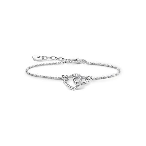 Thomas Sabo Sterling Silver Together Forever heart bracelet  - A1648-051-14