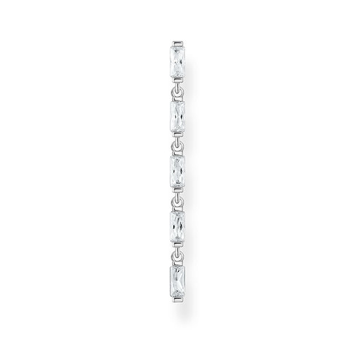 Thomas Sabo CZ Silver Long Single Earring - H2184-051-14