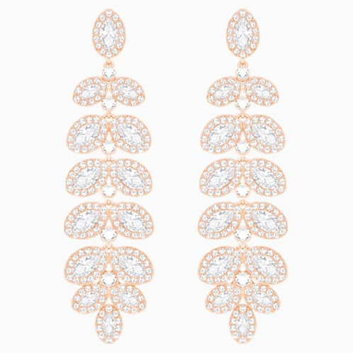 SWAROVSKI Baron Rose Gold Tone Pierced Earrings - 5350617