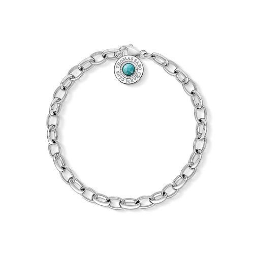 Thomas Sabo Silver Charm Club Turquoise Bracelet - X0229-404-17