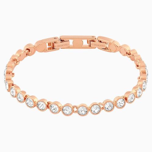 SWAROVSKI Tennis Bracelet in Rose Gold Tone and Clear Crystal  - 5039938
