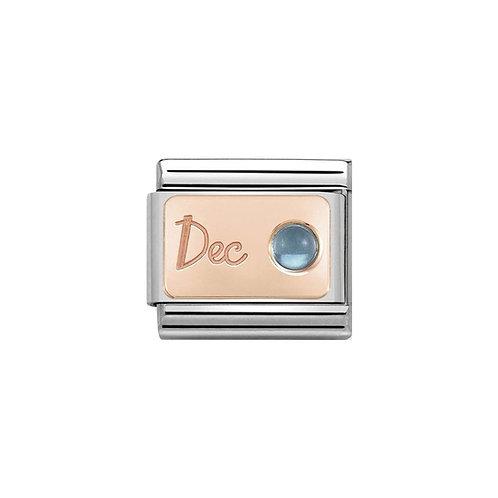 Nomination Rose Gold December Birthstone Charm Link - 430508/12
