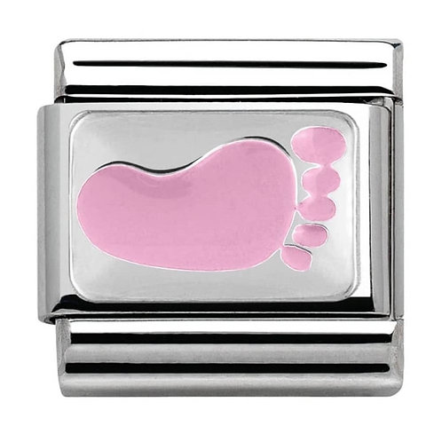 Nomination Silvershine CiaoLapo Charity Pink Foot Charm Link - 330281/10