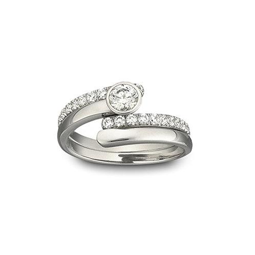 SWAROVSKI Radiance Ring Rhodium Tone Clear Crystal - 1023653