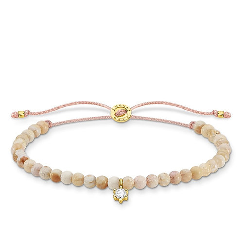 Thomas Sabo Jasper Polished Bead Bracelet - A1987-379-19-L20v