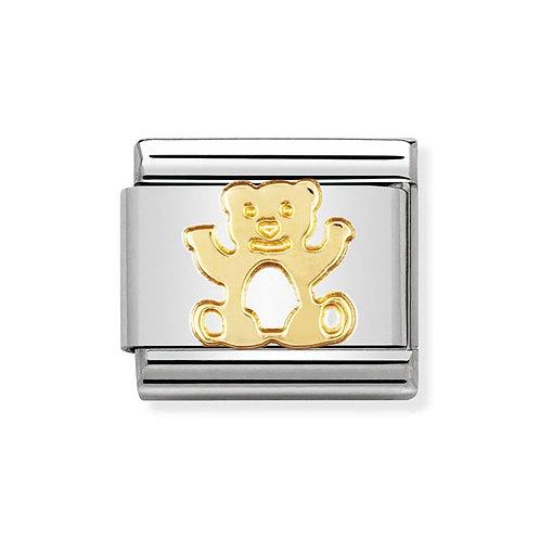 Nomination Gold Teddy Bear Charm Link - 030112/11