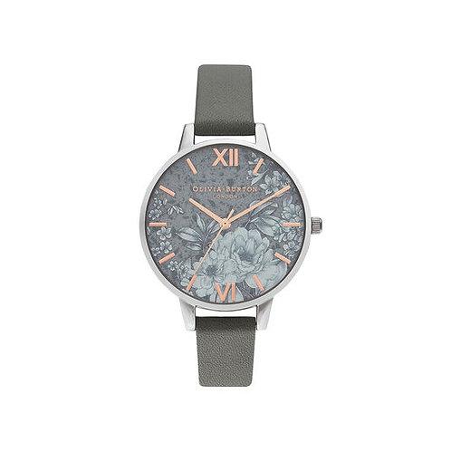 Olivia Burton Terrazzo Florals Dark Grey Vegan Strap Watch - OB16TZ05