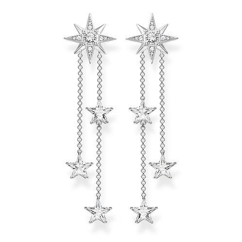 Thomas Sabo Sterling Silver Star Dangle Earrings - H2084-051-14