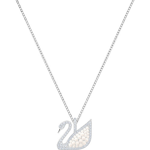 SWAROVSKI Iconic Swan Crystal Pearl Necklace - 5411791
