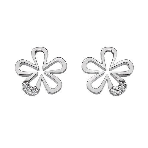 Hot Diamonds Sterling Silver Micro Flower Earrings