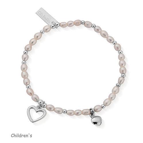 ChloBo Silver Children's Forever Love Heart Bracelet - SBFOREVER15