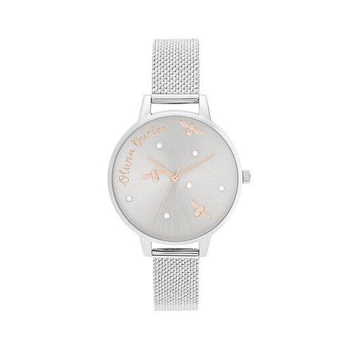 Olivia Burton Pearly Queen Mesh Strap Watch - OB16PQ01
