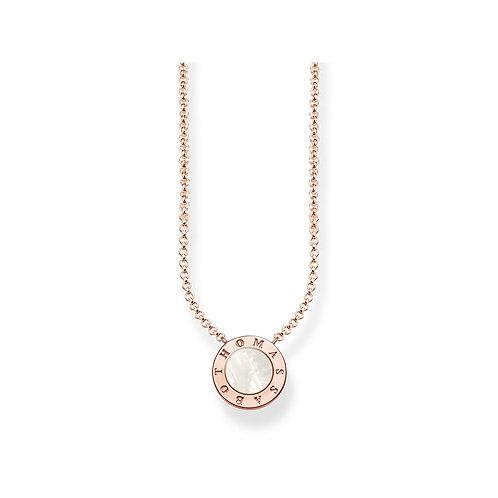 Thomas Sabo Sterling Silver Classic Rose Gold Tone Necklace - KE1492-532-14-l42v