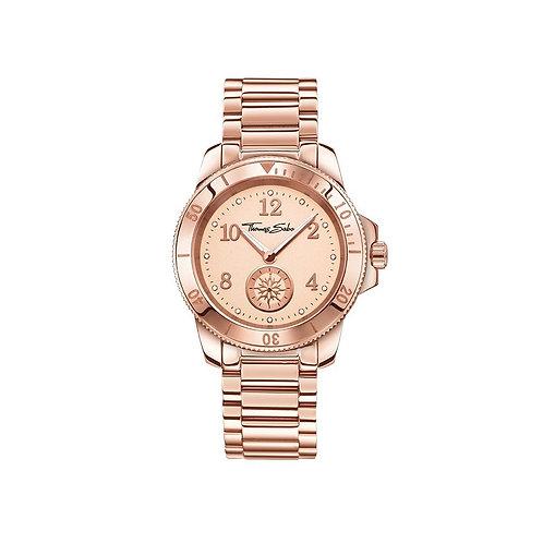 Thomas Sabo Ladies Glam and Soul Rose Gold Strap Watch - WA0206