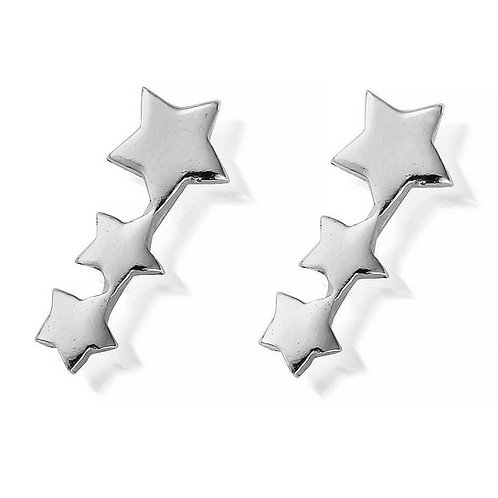 ChloBo Silver Shooting Star Stud Earrings - SEST186