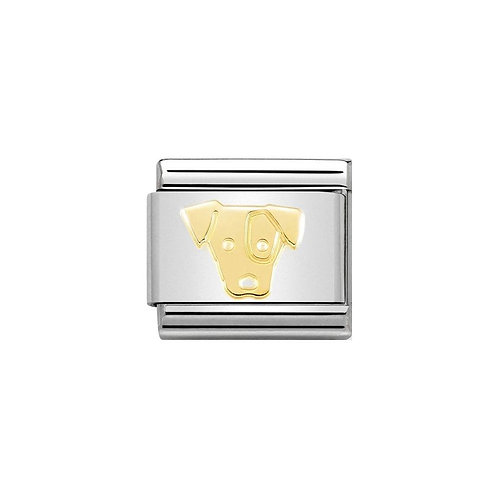 Nomination Gold Jack Russell Dog Charm Link - 030162/03