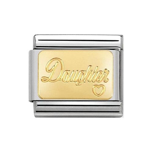 Nomination Gold Engraved Daughter Charm Link - 030121/25