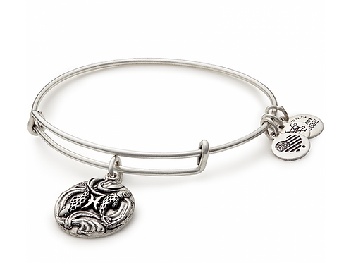 Alex and Ani Rafaelian Silver PISCES Starsign Bangle -A16EB56RS