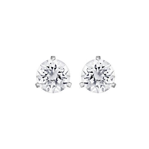 SWAROVSKI Clear Crystal Solitaire Stud Earrings 1800046