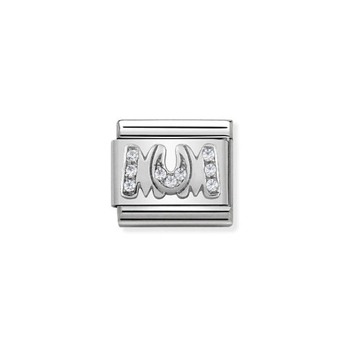 Nomination Silvershine MUM CZ Charm Link - 330316/08