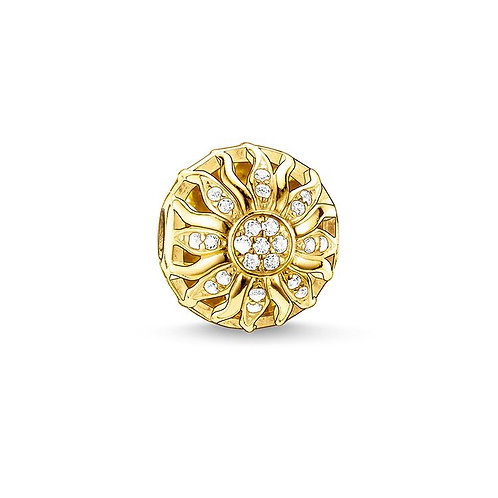 Thomas Sabo Karma Gold Glittering Sunrise Bead Charm -K0031-414-14
