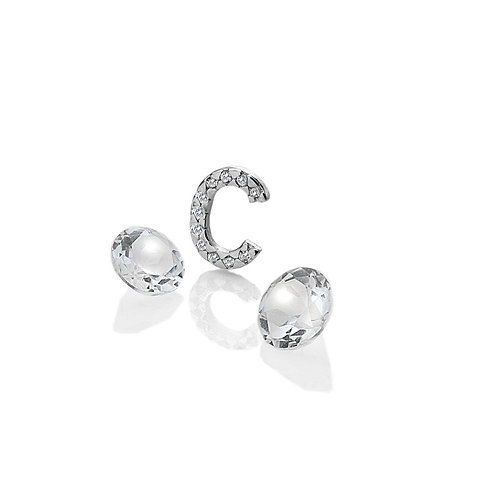 Anais by Hot Diamonds Sterling Silver Letter C Charm - AC071