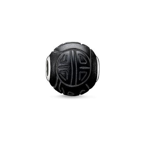 Thomas Sabo Karma Shanghi Obsidian Stone Bead Charm -K0055-023-11