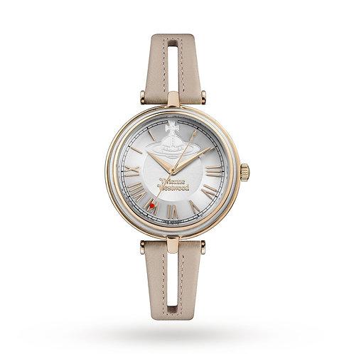 Vivienne Westwood Rose Gold  Farringdon Leather Strap Watch - VV168SLPK