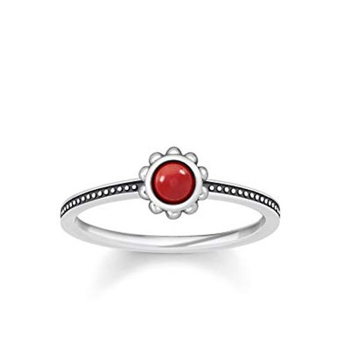 Thomas Sabo Silver Red Ethno Ring - TR2151-111-10