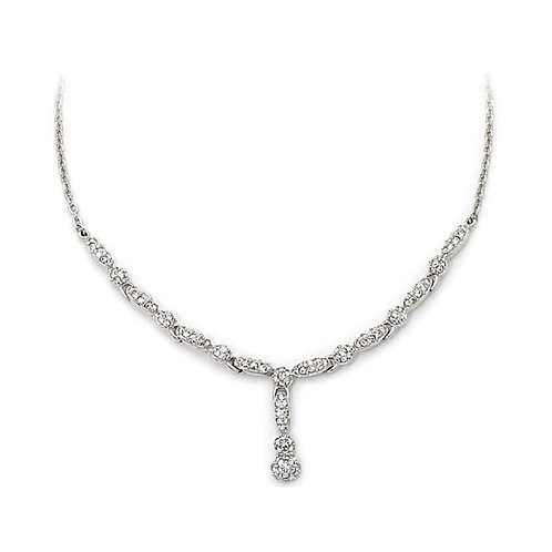 SWAROVSKI Emma Y Shaped Dropped Clear Crystal Necklace -1500592