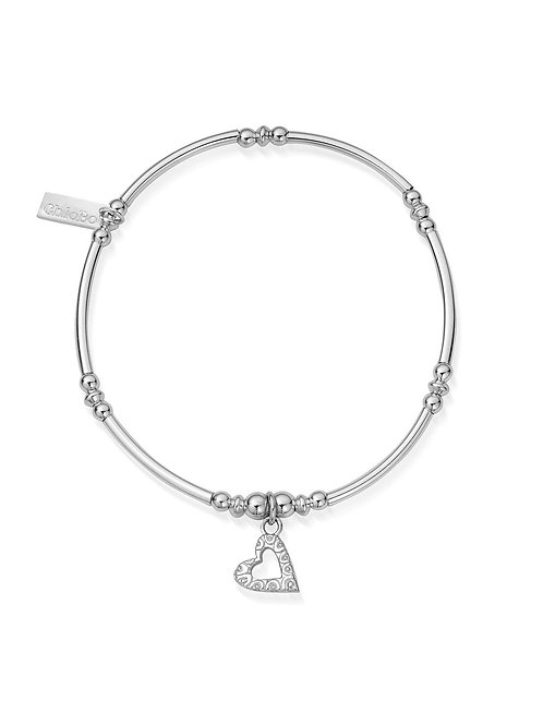 ChloBo Mini Open Heart Noodle Bracelet
